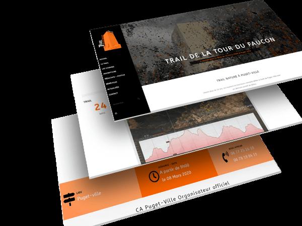 Création site et logo trail de puget-ville